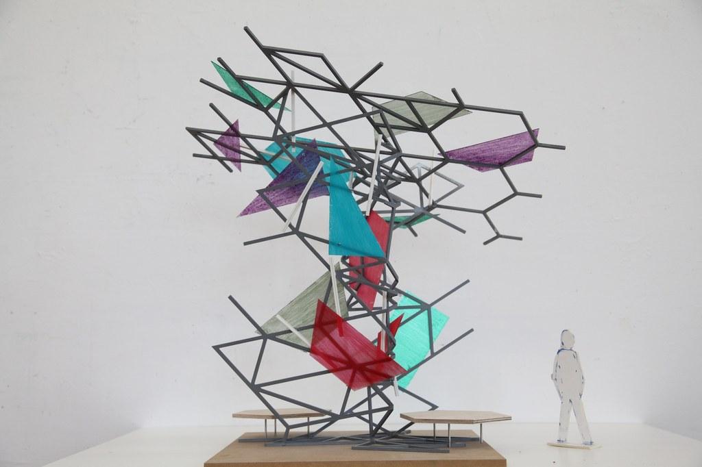 Paul Schwer Modell Lichtskulptur