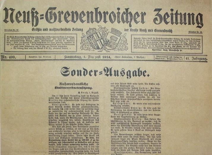 Neuss im Ersten Weltkrieg