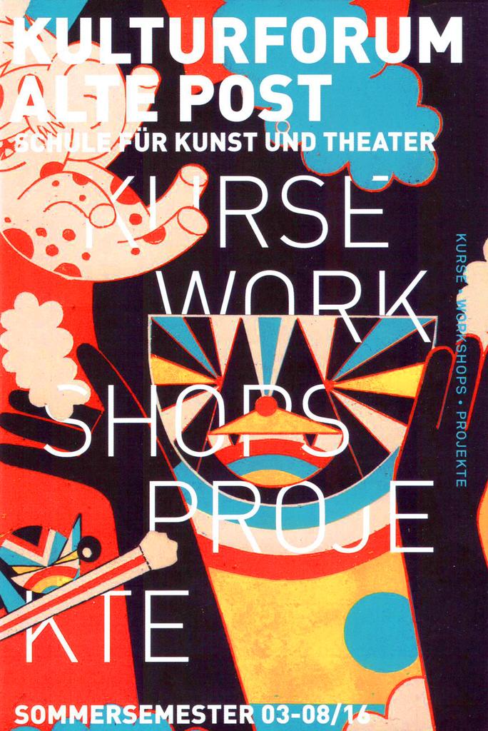 Das Cover des Sommerprogramms gestaltete der international bekannte Illustrator Roman Klonek