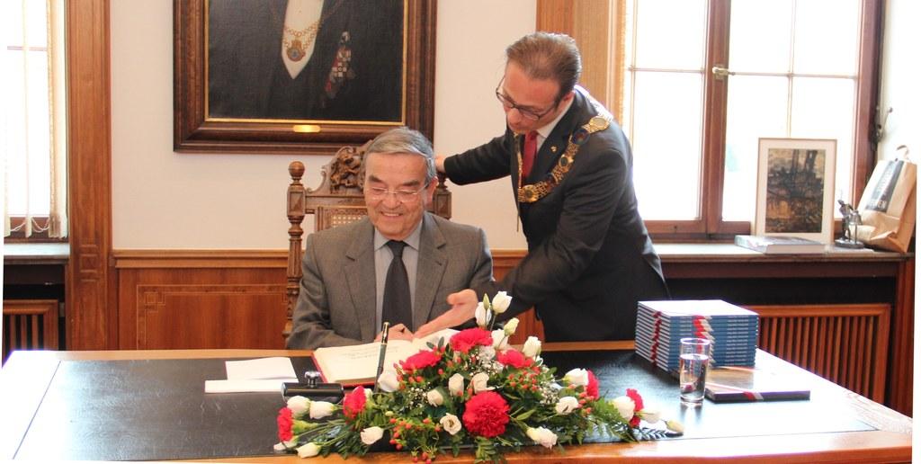 Leuvens Bürgermeister zu Besuch