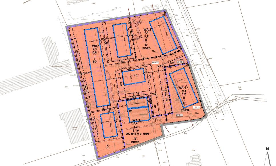 Öffentliche Auslegung des Bebauungsplans Römerstraße / Furtherhofstraße