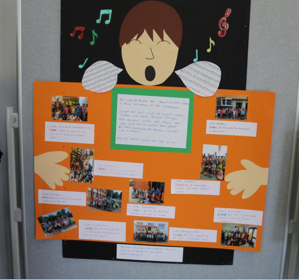 Diese Plakat-Dokumentation der Martin-Luther-Schule 2a gewann den ersten Preis.