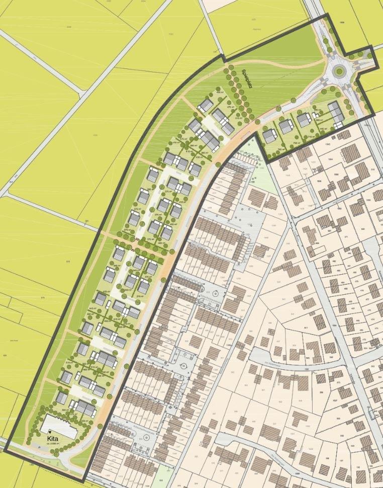 Neues Wohngebiet in Hoisten