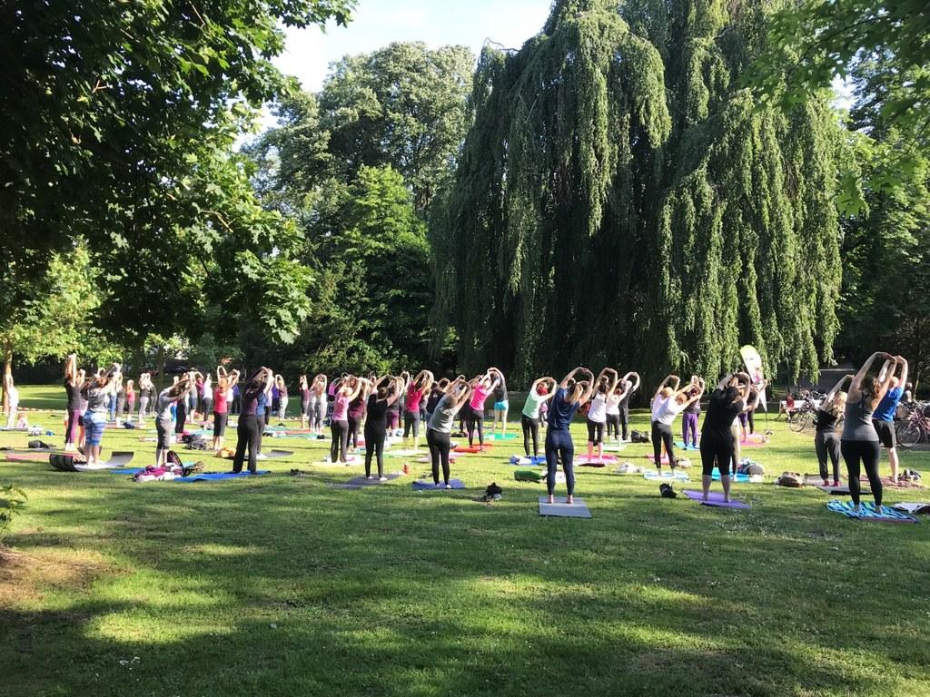 Auch Yoga im Stadtgarten war sehr gut besucht.