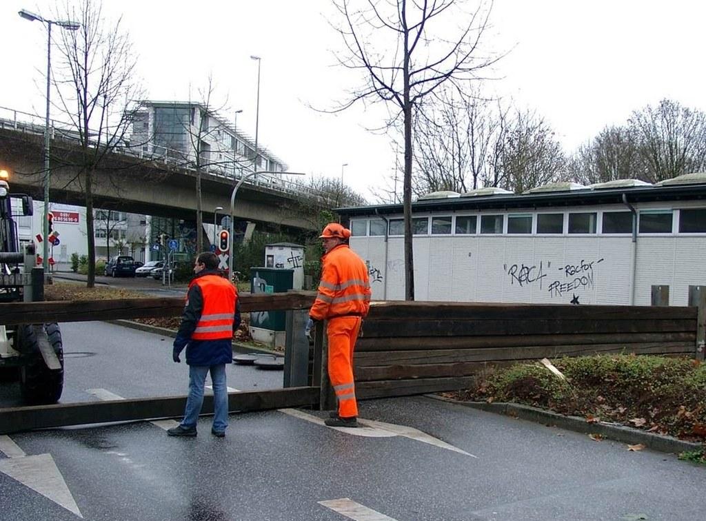 Hochwasserschutzübung