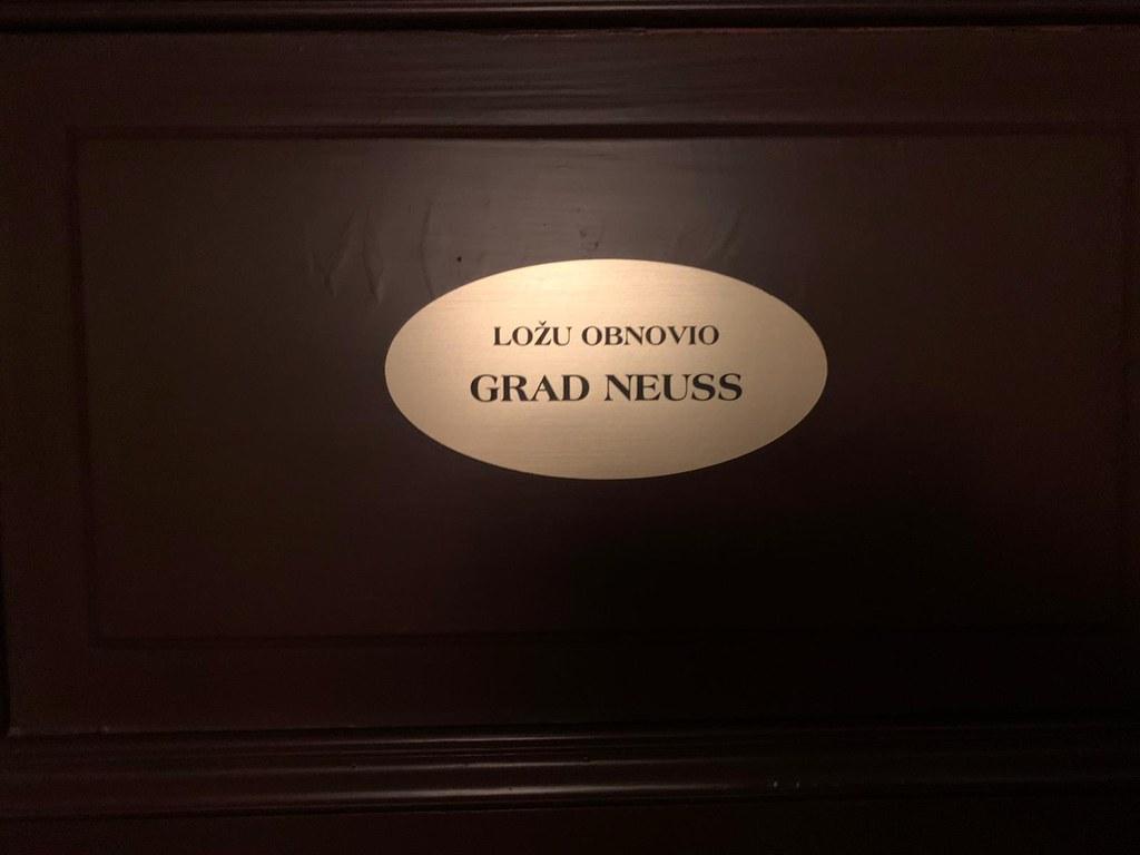 """""""Neusser Loge"""" im kroatischen Nationaltheater in Rijeka"""