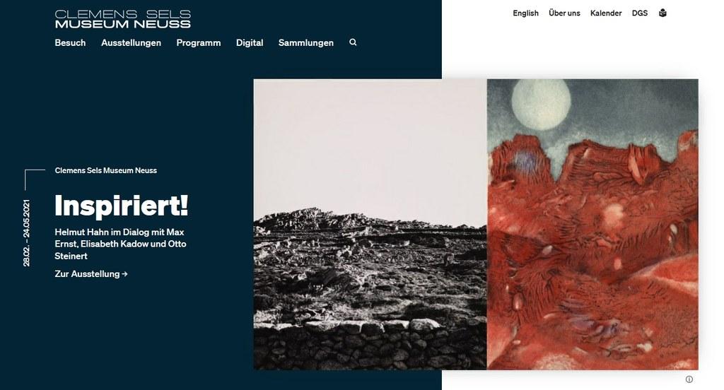 Neue Website des Clemens Sels Museums Neuss