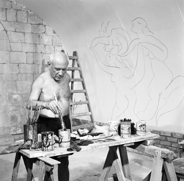 Pablo Picasso: vorbereitende Arbeiten