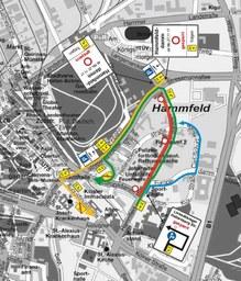 Karte Sperrung Hammfelddamm