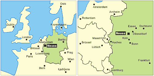 Maps of Europe and the Benelux Area