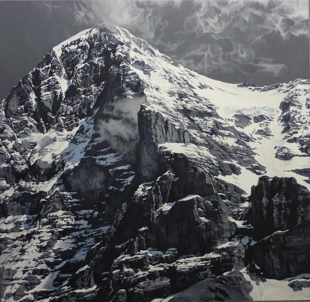 »White Spider« von Anton Sliountchenko — Öl auf Leinwand, 160 × 164 cm