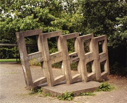 Betonskulptur von J.Neuhaus, Weckhoven, 70er Jahre
