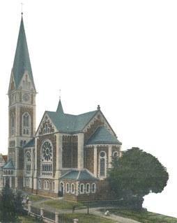 Christuskirche von der Kirchstraße aus gesehen