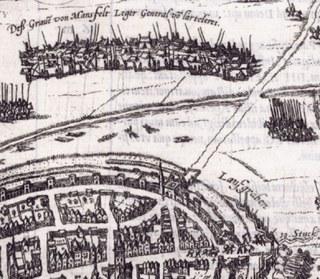 Das Gebiet vor dem Hamtor bei der Einnahme der Stadt Neuss