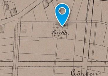 Evangelischer Friedhof: Historischer Lageplan 1873