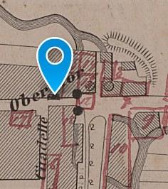 Obertorkapelle: Historischer Lageplan 1873