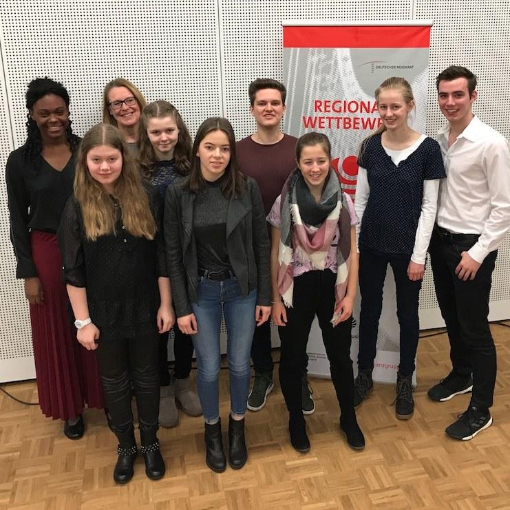 Teilnehmer des Gesangwettbewerbes 2019