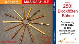 Blockflötenbühne Plakat