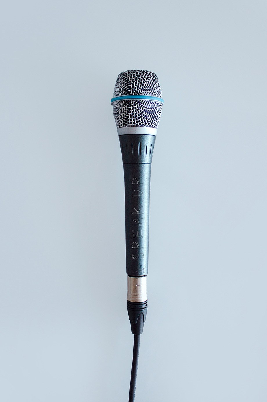 Gesang, Mikrofon (Hochformat)