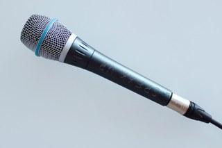 Gesang, Mikrofon (Querformat)
