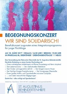 Benefizkonzert zugunsten eines Integrationsprogramms für junge Flüchtlinge