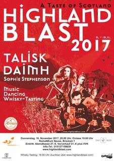Talisk, Daimh, Sophie StephensonNach dem sensationellen Erfolg im letzten Jahr kommt diese Veranstaltung wieder ins RomanNEum