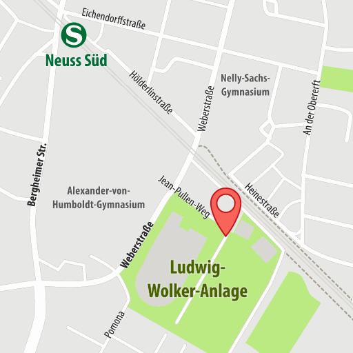 Karte: Ludwig-Wolker-Anlage ,Laufen