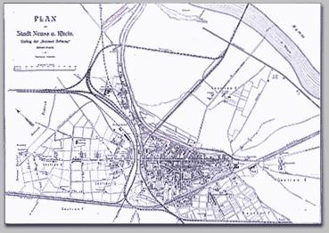 Neusser Stadtplan 1904