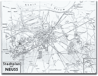 Neusser Stadtplan 1943