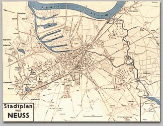 Neusser Stadtplan 1952