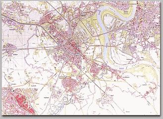 Neusser Stadtplan 1961