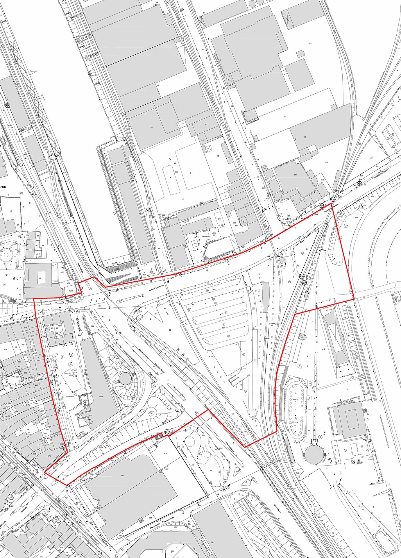 Wendersplatz Neuss: Wettbewerbsgebiet 2021