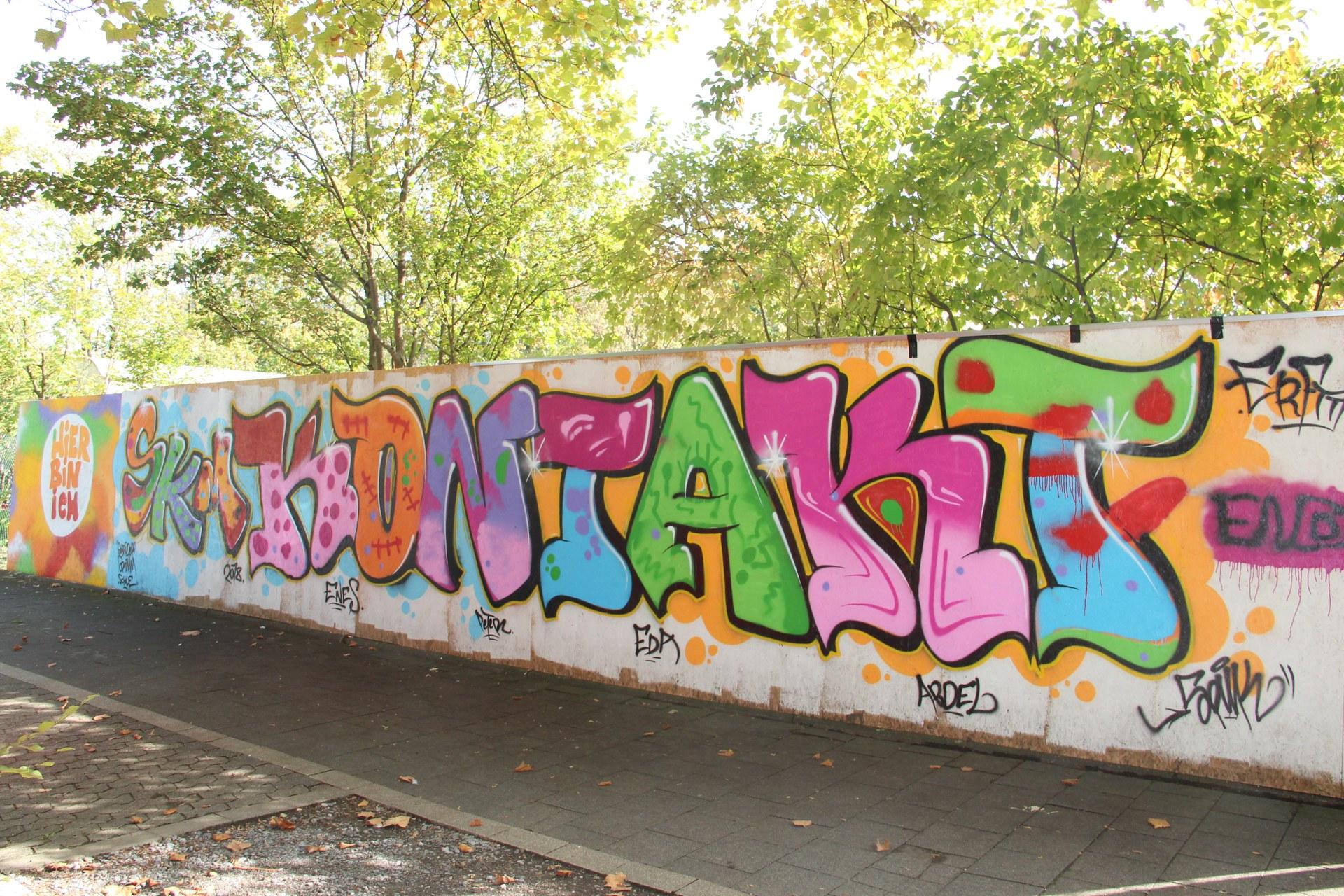Graffiti vor dem Kontakt Erfttal