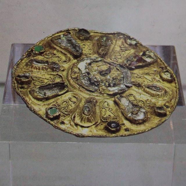 Goldscheibenfibel aus dem 7. Jahrhundert