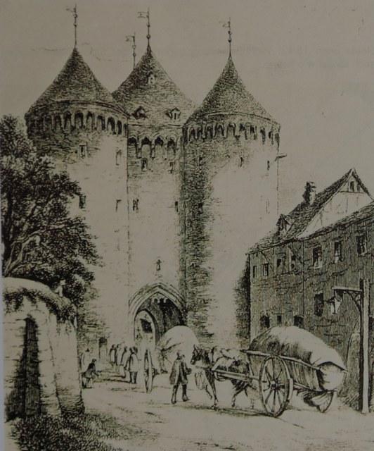 Feldseite des Obertores Mitte 19. Jahrhundert