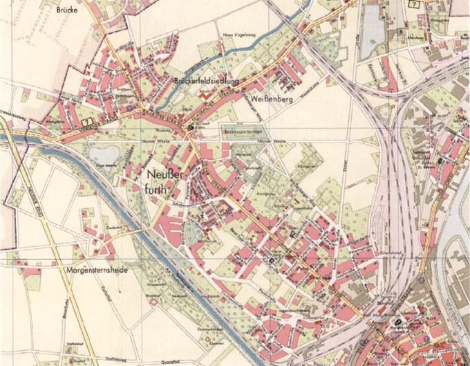 Stadtplan, 1955