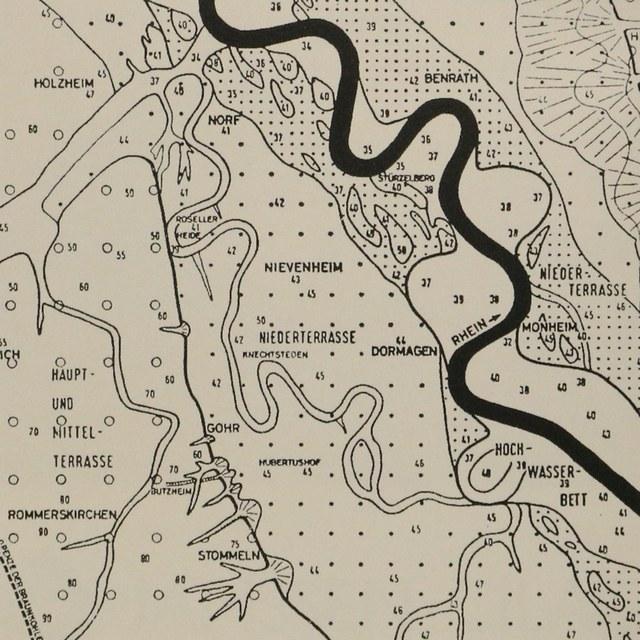 Karte mit altem Rheinbett
