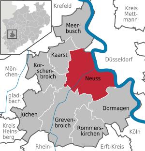 Abb. 1: Lage der Stadt Neuss