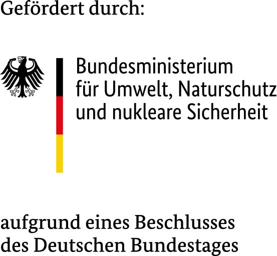 Fördererlogo: Bundesministerium für Umwelt, Naturschutz und nukleare Sicherheit