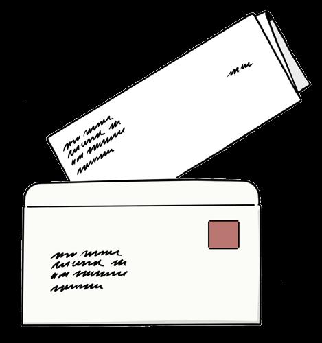 Brief mit Umschlag.