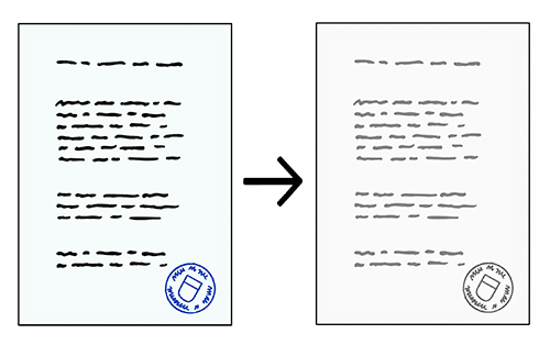 Eine Seite und eine Kopie von der Seite.