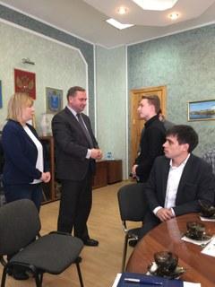 Begrüßung durch Bürgermeister Zezerski