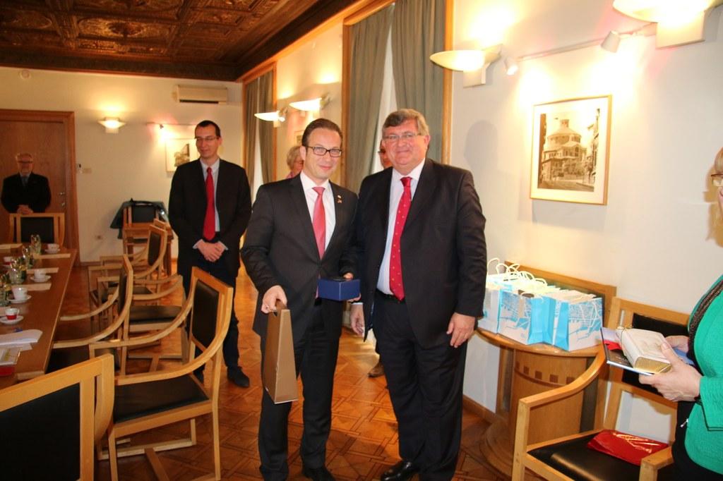 Empfang von Bürgermeister Obersnel im Rathaus von Rijeka